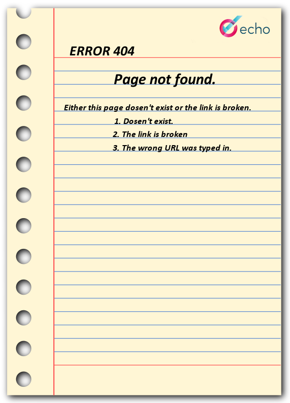Error page not found